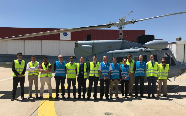 SENER and Babcock present the Spanish Navy with the fourth upgraded AB212 helicopter